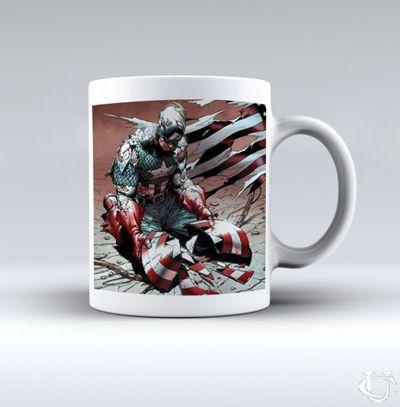 Sell Captain America Avanger Broken Shield White Mug cheap and best quality. *100% money back guarantee