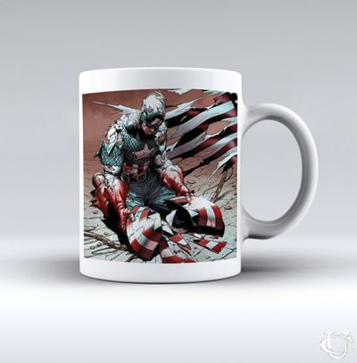 Sell Captain America Avanger Broken Shield White Mug cheap and best quality. *100% money back guarantee
