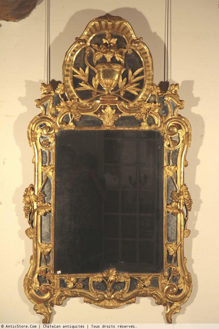 Les 13 meilleures images propos de miroirs anciens sur for Miroir xviii