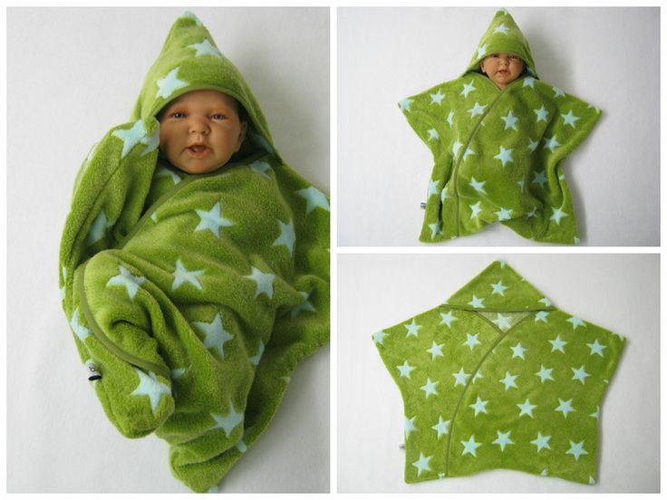 Schlafsäcke - star fleece baby wrap stern schlafsack pucktuch - ein Designerstück von bighead5005 bei DaWanda