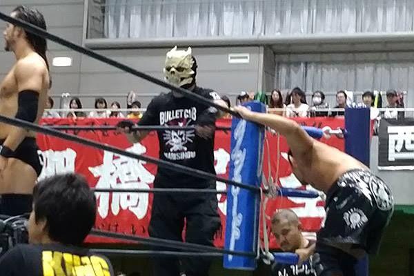Adam Cole, Bone Solider (formerly Captain New Japan) and Yujiro Takahashi
