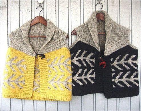 Pattern  Hand-Knit Cardigan Vest Visby by ShamrockArts on Etsy