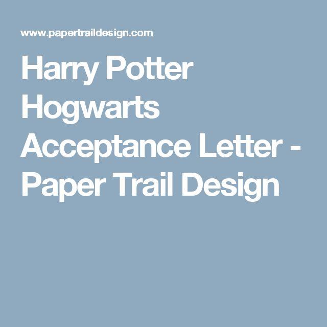 106 best HP - Acceptance Letter images on Pinterest Letter - acceptance letters pdf