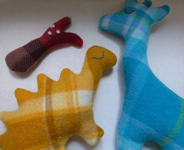 maker:  Edwina Bolger product:blankie toys  material:recycled woollen blankets with                   non-allergenic stuffing handmade in Melbourne