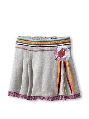 69% OFF Desigual Kid's Pleated Fleece Circle Skirt (Heather Grey)