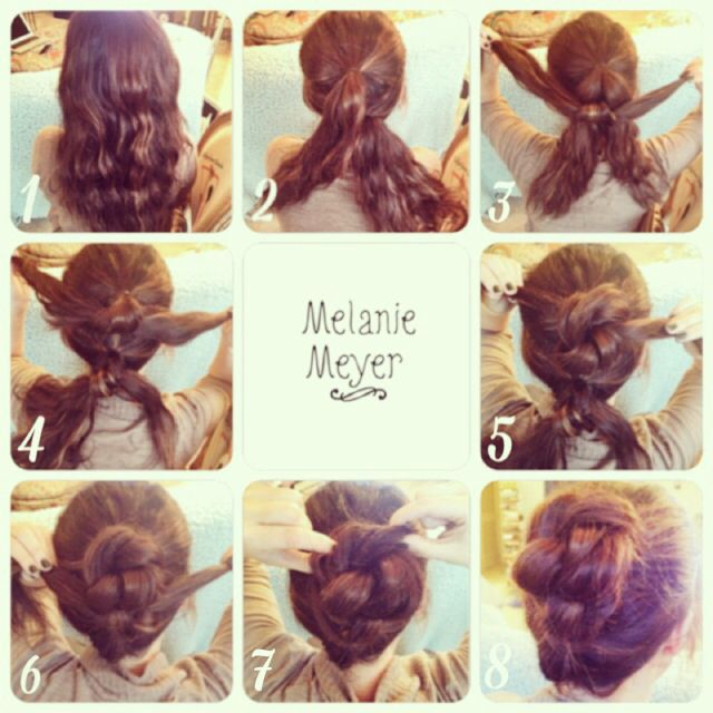 Messy Knots Quick Easy Updo For Long Hair Before Work