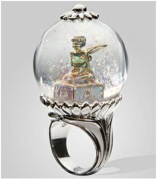 Tinkerbell Snow Globe Ring