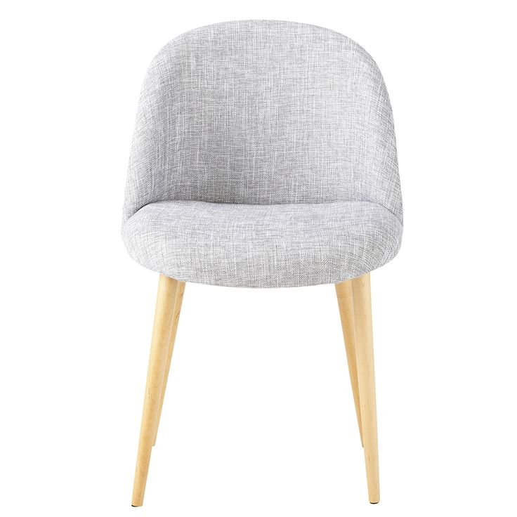 Heathered Light Grey Fabric Vintage Chair Mauricette