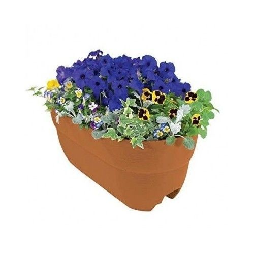 Garden Planter Deck Railing Flower Box Windowboxes Outdoor Plant Containers Pot #Bloomers