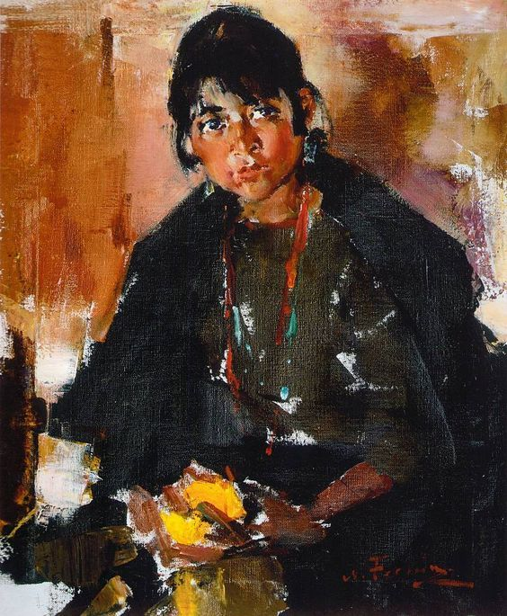17 best images about portrait on pinterest portrait man for Nicolai fechin paintings for sale