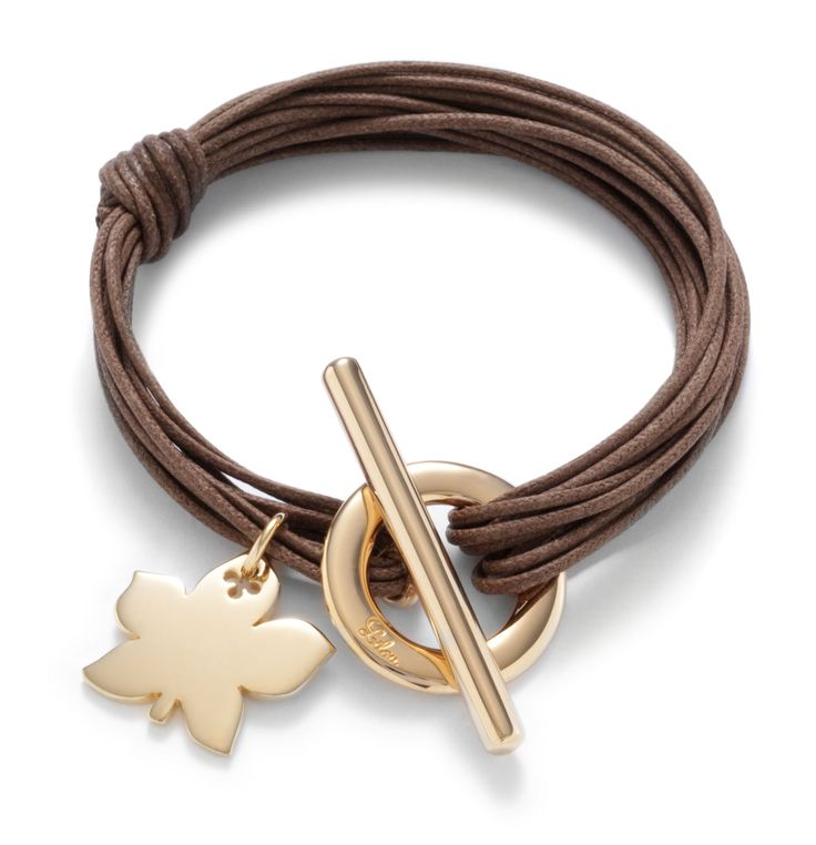 Autumn already? All right, bring it on! http://lilouparis.com/en/configurator/bracelets/  #lilou #bracelet #leaves #autumn #platedgold #jewellery
