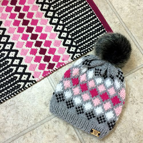 Ravelry: Diamond Back Toque pattern by Cristin Vollrath