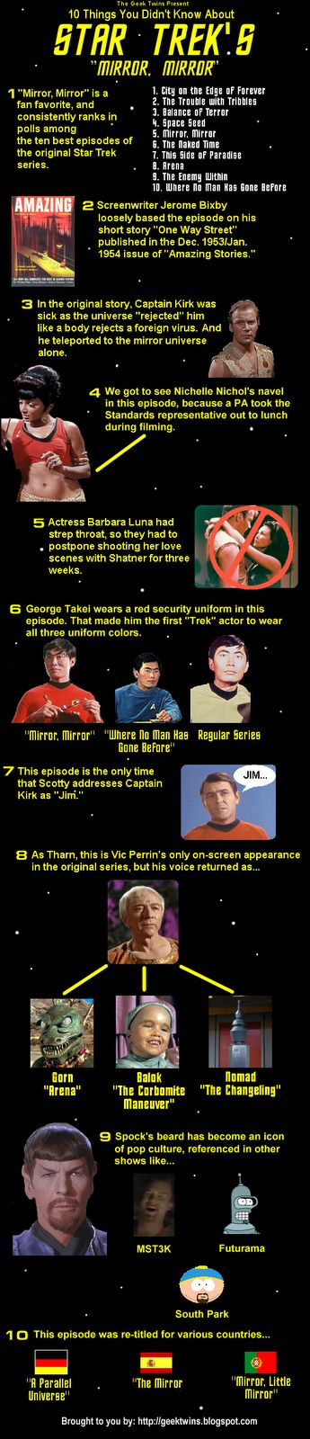 "10 Things You Didn't Know About Star Trek's ""Mirror, Mirror""  Visual Loop"