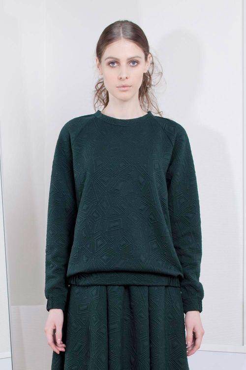 Lesel - Блуза джерси стеганая с защипами