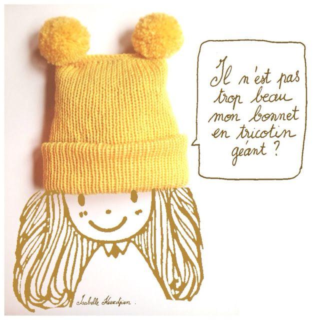Isabelle Kessedjian Bonnet au tricotin géant 4