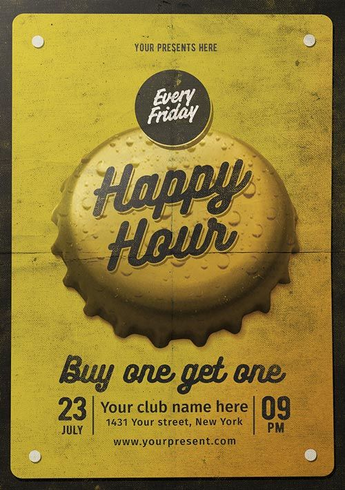 Vintage Happy Hour Flyer Template - http://ffflyer.com/vintage-happy-hour-flyer-template/ Enjoy downloading the Vintage Happy Hour Flyer Template created by Lilyshop  #Bar, #Beer, #Club, #Event, #FreeBeer, #Party, #Poster, #Promotion, #Pub