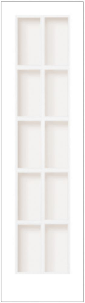 Milette Interior French Door Primed With 10 Lites Clear Glass -24 Inches x 80 Inches | The Home Depot Canada