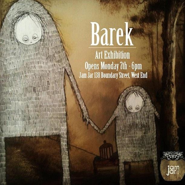 #barek #exhibition #artshow #jamjar #westend #brisbane #troll #painting #acrylic #ink #flyer by *Barek*, via Flickr