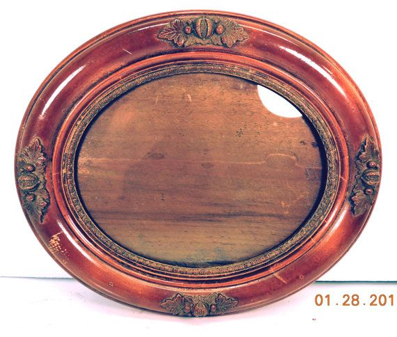 Oval Picture Frame with Glass Antique Victorian by Mainetrader
