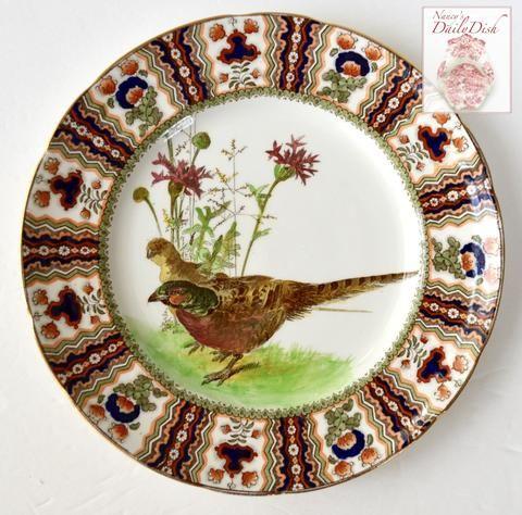 Antique Royal Doulton Clobbered Transferware Pheasant Plate Game Bird  sc 1 st  Pinterest & 521 best Vintage Royal Doulton China \u0026 Crystal images on Pinterest ...