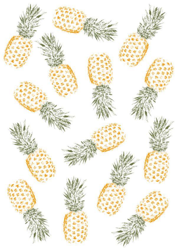 Displate Poster Pineapple Pineapple Fruit Orange Green Fun Pattern Pineapple Art Print Pineapple Wallpaper Pineapple Art