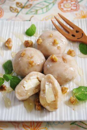 「【くるみ】くるみとクリームチーズの白玉」ayaka | お菓子・パンのレシピや作り方【corecle*コレクル】