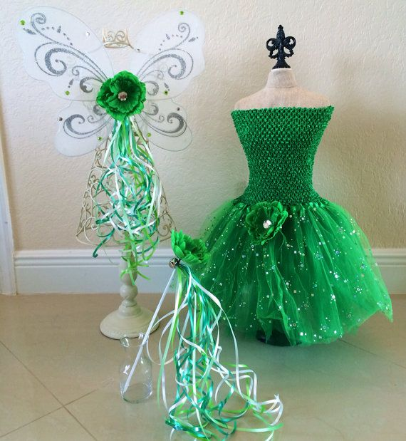 Tinkerbell Costume Tinkerbell Wings Fairy Wings by partiesandfun