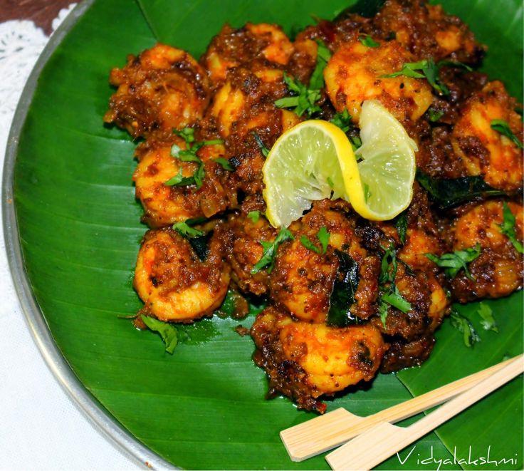 cookingmyway: Chettinaad Prawn Chukka Recipe