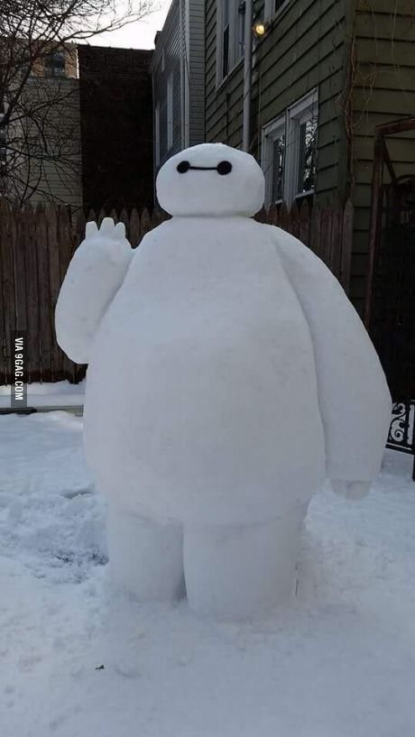 Snow Baymax how cool is that