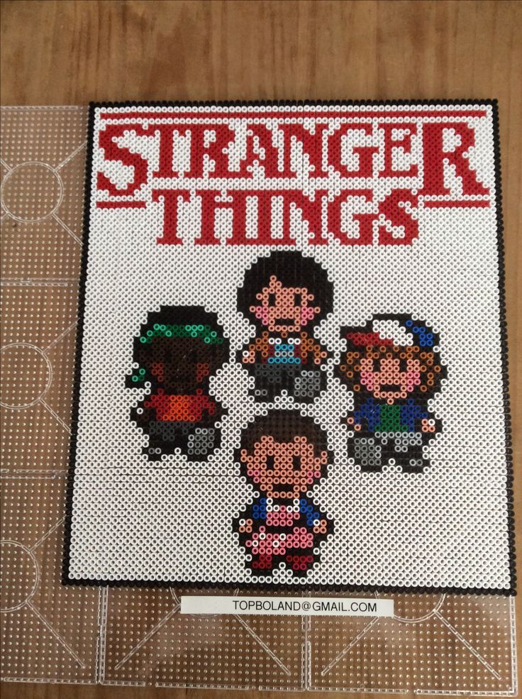 Stranger Things, Hama beads, Perler beads, Pixel art