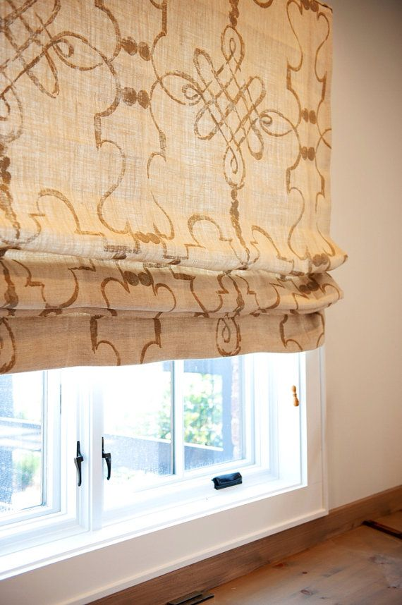 Custom Roman Shade Window Treatment in Osborne and by rerackgals, $99.00
