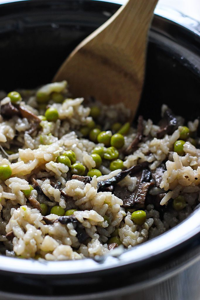 Slow Cooker Mushroom Risotto | Recipe | Jars, Stove and The o'jays