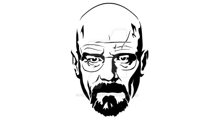 Walter White Stencil by funksoulfather