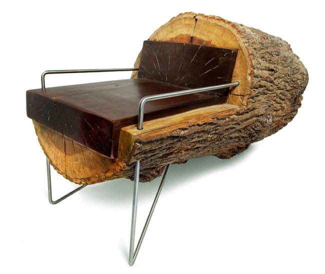 Die besten 25+ Log chairs Ideen auf Pinterest Rustikaler stuhl - rustikale gartenmobel aus ungarn