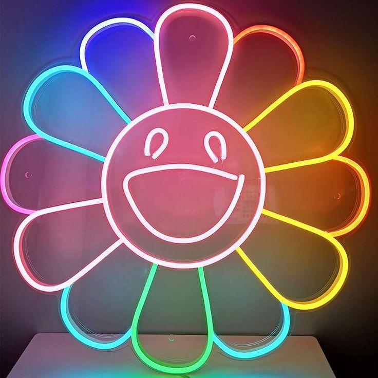 Sunflower neon sign custom neon light | Etsy | Neon signs ...
