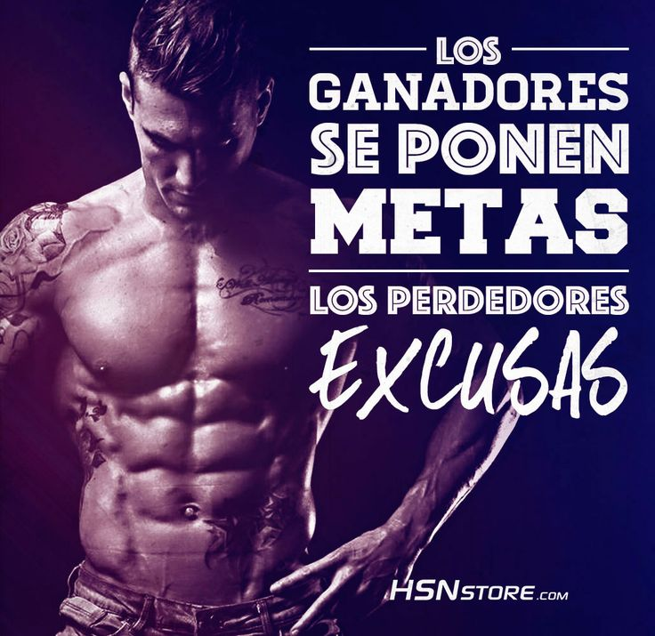Los ganadores se ponen metas, los perdedores excusas #fitness #motivation…