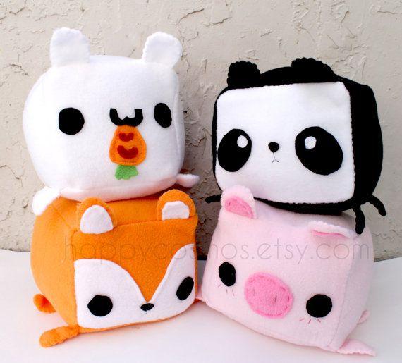 ANIMAL PLUSH – Kawaii Plushie , Cute Stuffed Animal, Rabbit Plush, Fox Plush, Pig Plush, Panda Plush