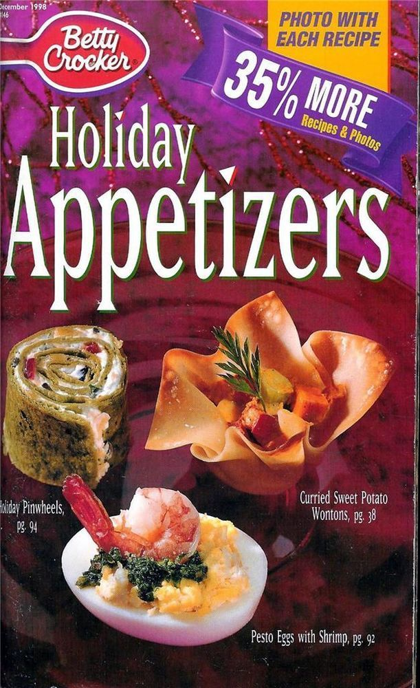20 best cookbooks images on pinterest easy cooking easy food betty crocker holiday appetizers recipe book december 1998 146 forumfinder Images