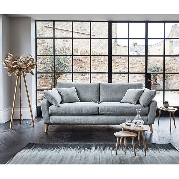 Buy ercol for John Lewis Salento 4 Seater Sofa, Maria Oyster Online at johnlewis.com