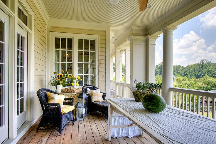 Georgian Style Home 2nd Story Porch Porch Pinterest