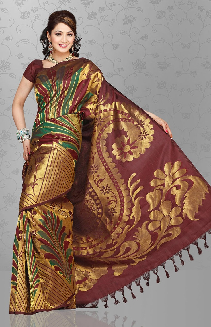 UPPADA SILK SAREE with Zari threadwork and border. Unique designs add beauty to this saree. Saree with blouse. Attractive designs. Smooth texture. There may be a slight colour variation in the image from original product due to various reasons like configuration of computer monitor, colour scheme of computer, lighting of the photograph etc.