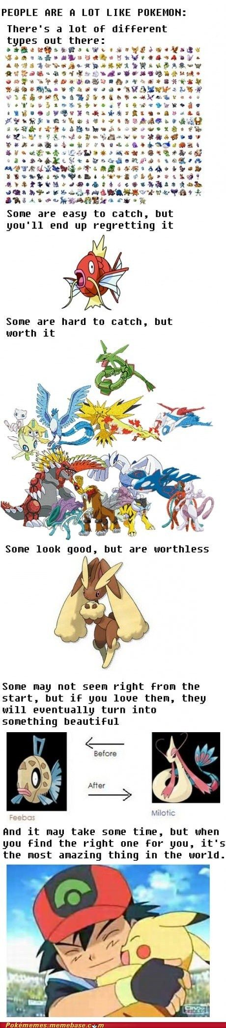 People Are a Lot Like Pokémon... i can't believe i agree with this, let alone see the point.