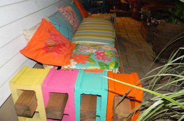 Дачная мебель из шлакоблоков (трафик) / Дача / ВТОРАЯ УЛИЦА