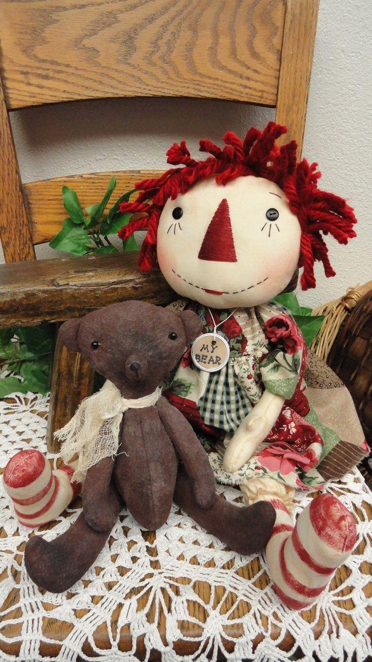 1199 best raggedy primitive dolls images on pinterest primitive