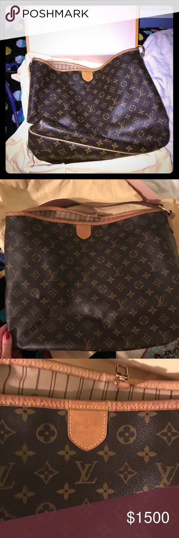 Louis Vuitton Delightful GM Bag Authentic Gently used Delightful GM Bag. Comes with box and bag. Price firm. Flaws shown in pictures. One little nick on leather which you can not see really at all, super tiny. One little mark on handle. Louis Vuitton Bags Totes