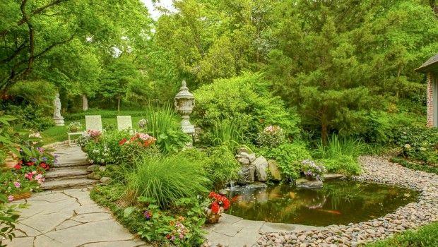 luxury garden in dallas luxury gardens garden features pinterest. Black Bedroom Furniture Sets. Home Design Ideas