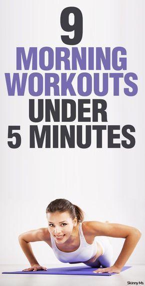 9 allenamenti mattutini in meno di 5 minuti