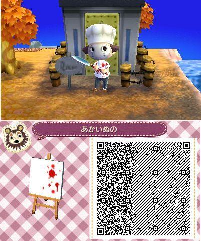 Animal Crossing New Leaf Wallpaper Acnl Achhd Qr Code Blood Splatter Acnl Achhd Qr Codes