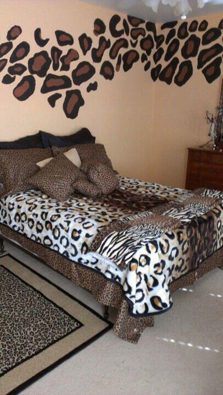 animal cheetah bedroom ideas | Animal print bedroom ...