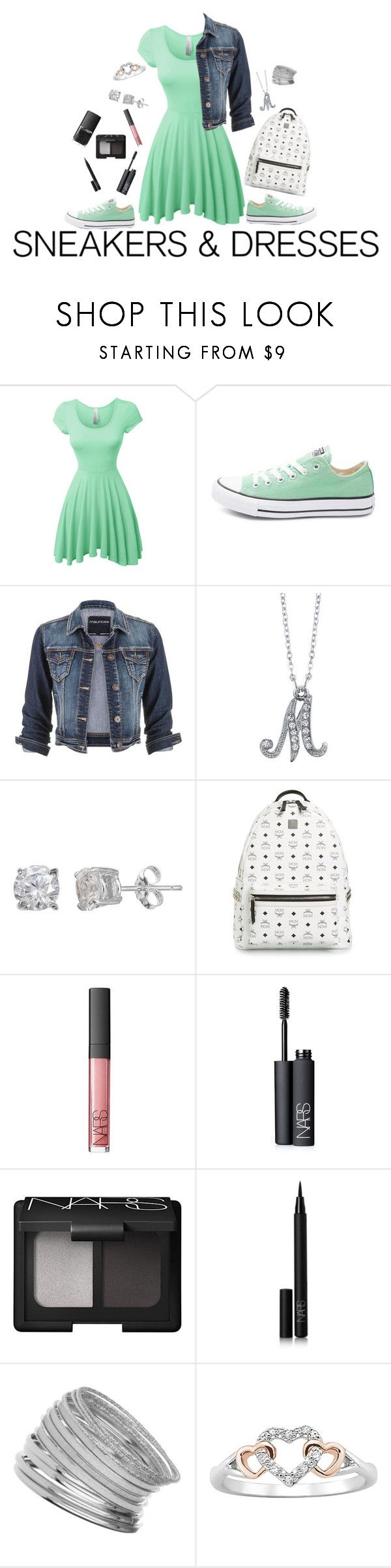 """""""Sporty Chic: Terrific in Turquoise"""" by mias-angels on Polyvore featuring LE3NO, Converse, maurices, 1928, Silver Treasures, MCM, NARS Cosmetics, Miss Selfridge, turquoise and sportychic"""